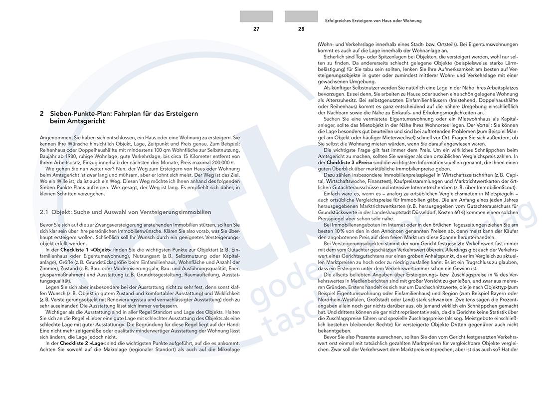 Erfolgreiches Ersteigern von Haus oder Wohnung – Auszug Seite 27-28