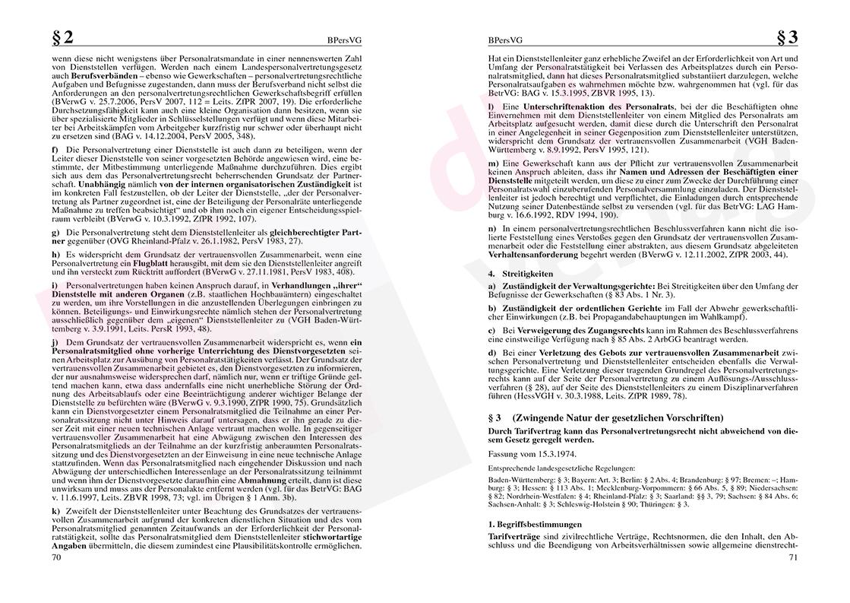 Personalvertretungsrecht des Bundes und der Länder – Seite 70-71
