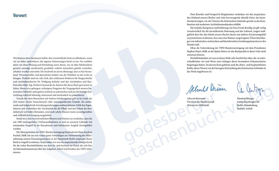 Vom königlichen Casernment zur Bundesanstalt Technisches Hilfswerk – Vorwort