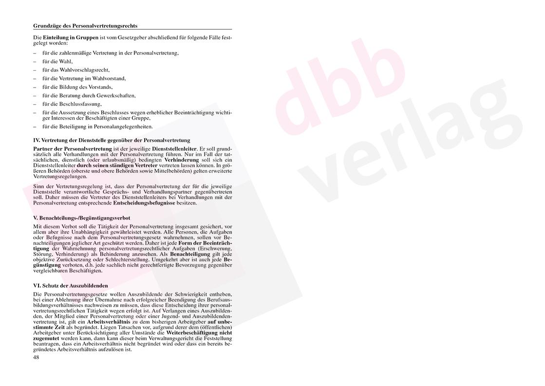 Personalvertretungsrecht des Bundes und der Länder – Seite 48