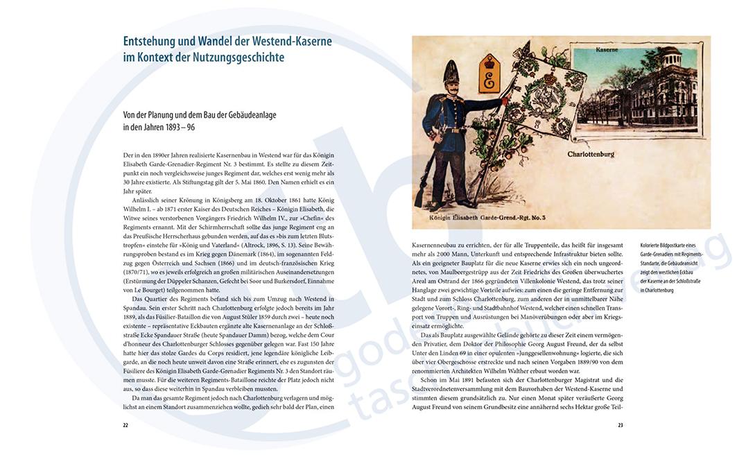 Vom königlichen Casernment zur Bundesanstalt Technisches Hilfswerk – Auszug Seite 22-23