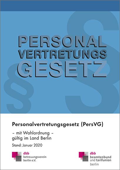 Personalvertretungsgesetz Berlin © DBB Verlag GmbH