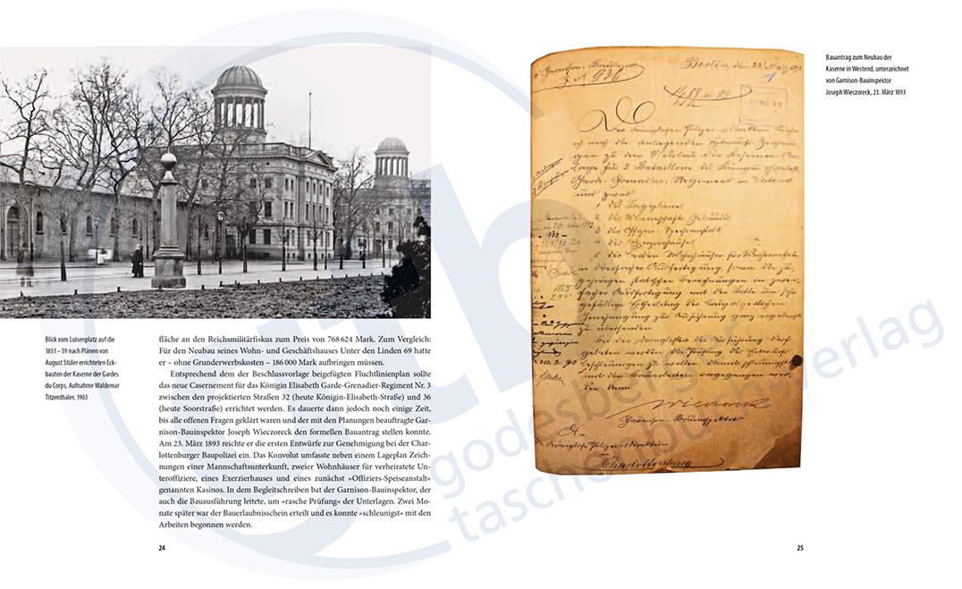 Vom königlichen Casernment zur Bundesanstalt Technisches Hilfswerk – Auszug Seite 24-25