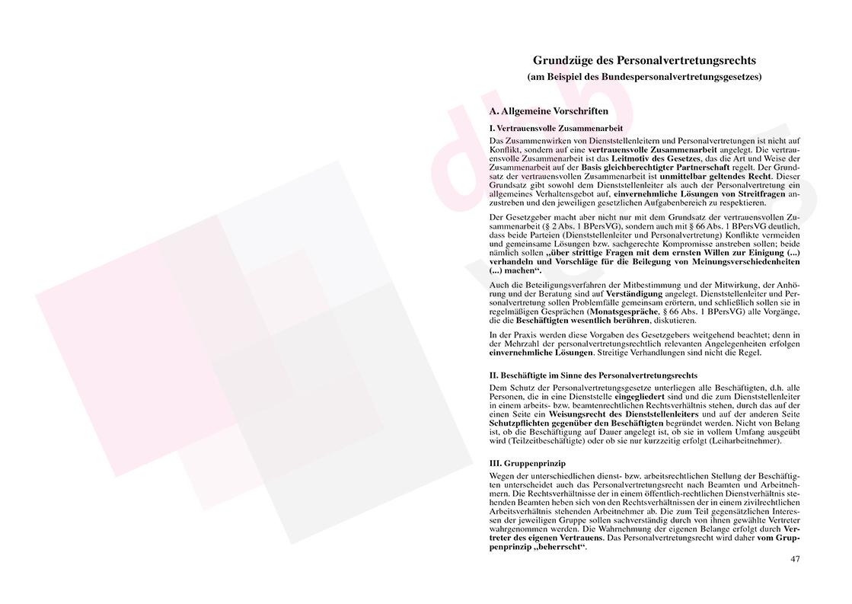 Personalvertretungsrecht des Bundes und der Länder – Seite 47