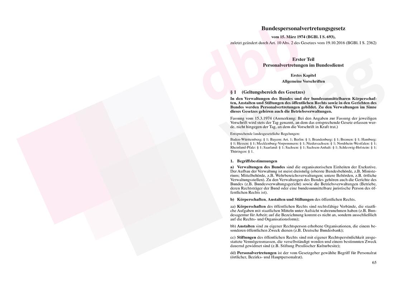 Personalvertretungsrecht des Bundes und der Länder – Seite 65
