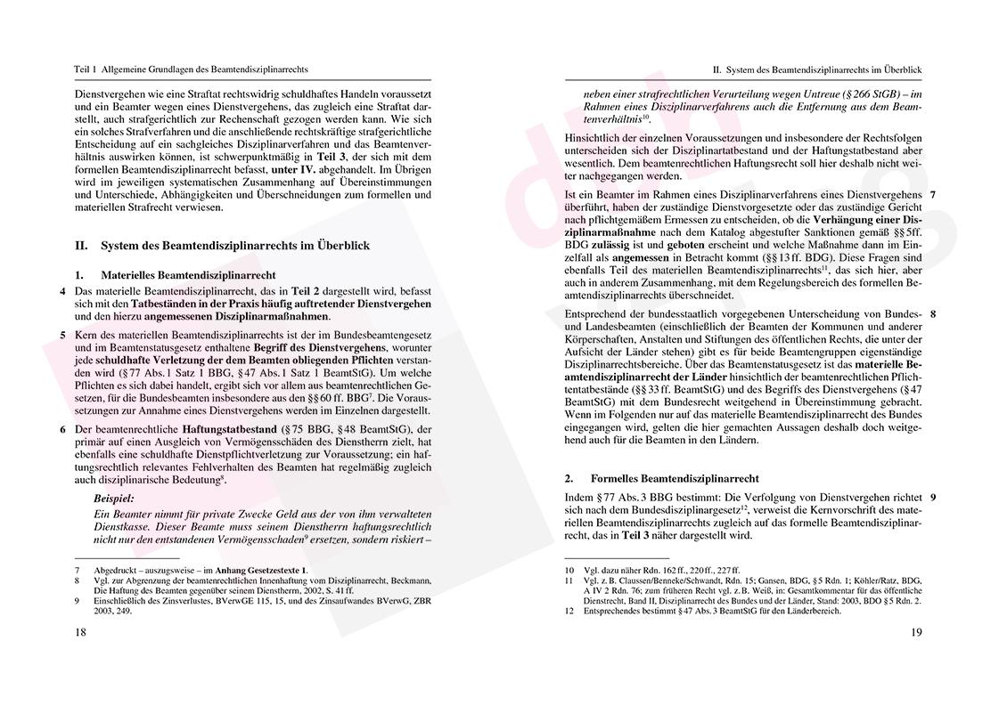 Grundzüge des Beamtendisziplinarrechts – Auszug Seite 18-19