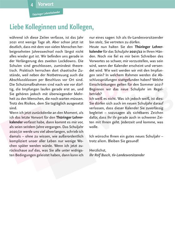 Thüringer Lehrerkalender 2021/2022