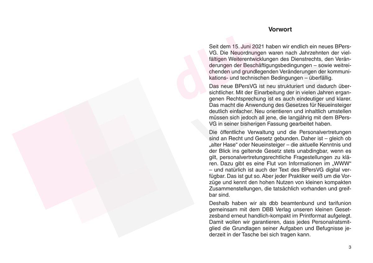 Bundespersonalvertretungsgesetz 2021