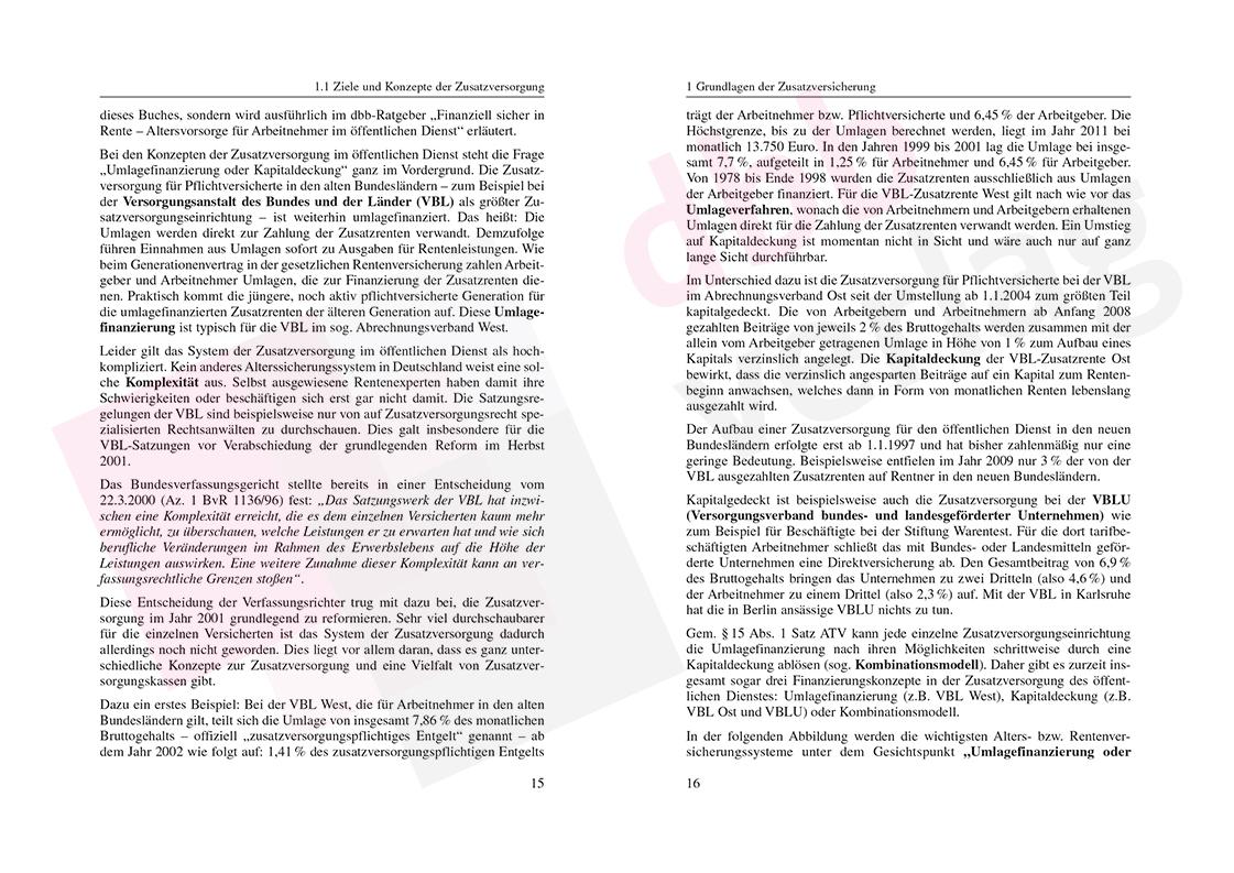 Zusatzversorgung im öffentlichen Dienst – Auszug Seite 15-16
