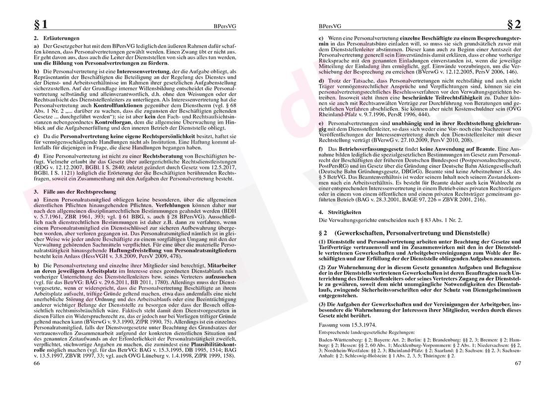 Personalvertretungsrecht des Bundes und der Länder – Seite 66-67
