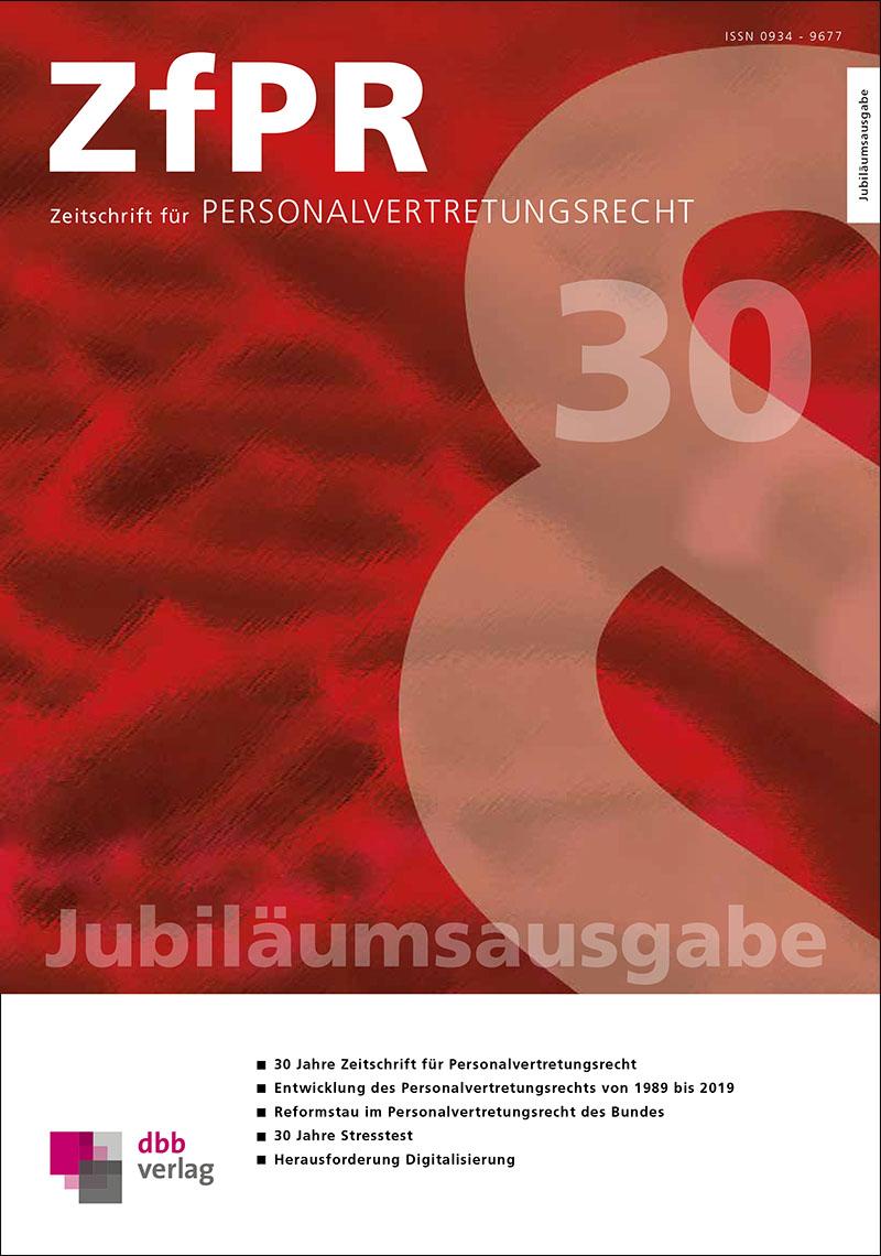 ZfPR-Jubiläumsausgabe 2020 @ DBB Verlag GmbH