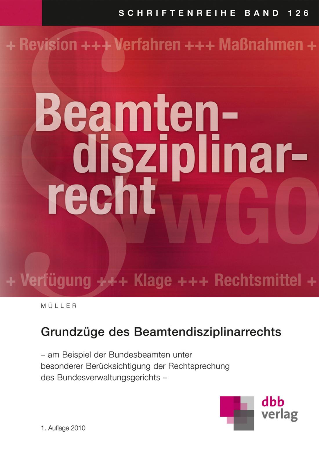 Grundzüge des Beamtendisziplinarrechts © DBB Verlag GmbH