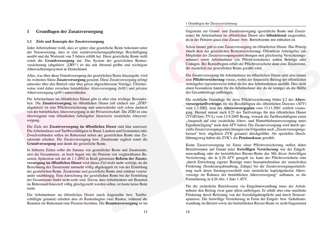 Zusatzversorgung im öffentlichen Dienst – Auszug Seite 13-14