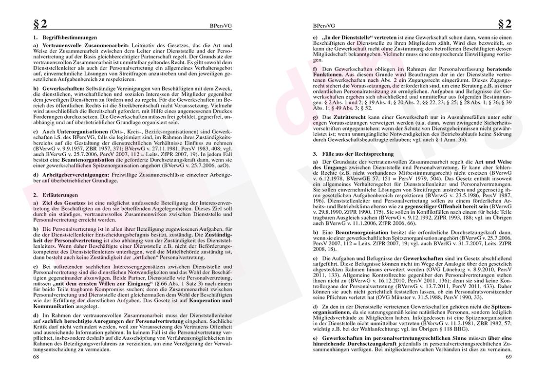 Personalvertretungsrecht des Bundes und der Länder – Seite 68-69